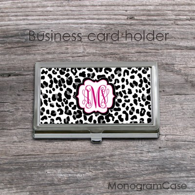 Leopard print business card holder best image of leopard 2018 leopard business cards image hd colourmoves