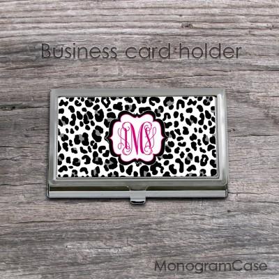 Leopard print business card holder best image of leopard 2018 leopard business cards image hd coach las wallet reheart Images