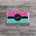 Magenta and teal set for business card case