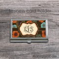 Monogrammed poppies design steel case holder