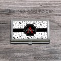 Musical card holder notes print black ribbon