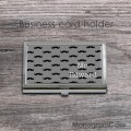 Masculine stainless steel card holder mustraches prints