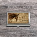 Retro look horse design personalized steel case