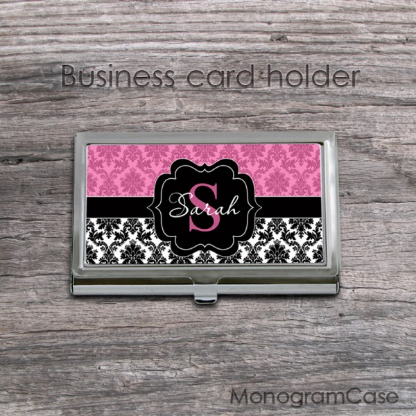Two colors damask business card case