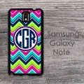 Abstract multicolor chevron hot pink navy lime turquoise case cover