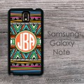 Galaxy case - boho ethnic colorful pattern initials monogrammed case