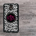 Cheetah leopard print black white pattern Galaxy case