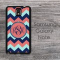 Customized Samsung Galaxy Note case with mix-color chevron