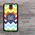 Colorful mix chevron monaco blue circle monogrammed cover