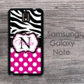 Cute combo hot pink polka dots zebra print customized case cover