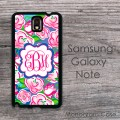 Pink roses floral pattern Galaxy case cover