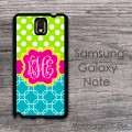 Fresh lime green turquoise patterns with lovely label - hard cover