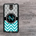 Moroccan pattern in grey and turquoise black personalized case