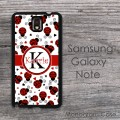 Ladybugs print Samsung Galaxy Note case