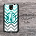 Ombre light intershot chevron Samsung Galaxy Note case