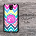 Party colors zig-zag monogrammed Samsung Galaxy Note case