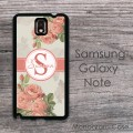 Vintage roses design personalized Samsung cover