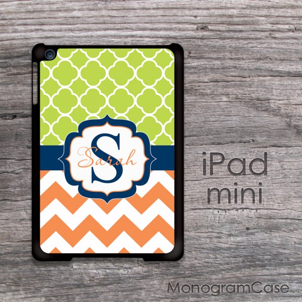 Apple green orange chevron iPad mini