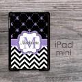 Chevron and clovers lavender iPad mini hard case