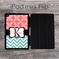 iPad mini flip - custom  pattern coral and aquamarine  design