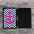 Monogrammed sea inspired iPad mini Flip case