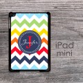 iPad mini hard case mixed colors chevron