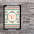 Indian tribal design iPad mini case