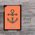 Aztec anchor name or monogrammed iPad mini nautical inspired