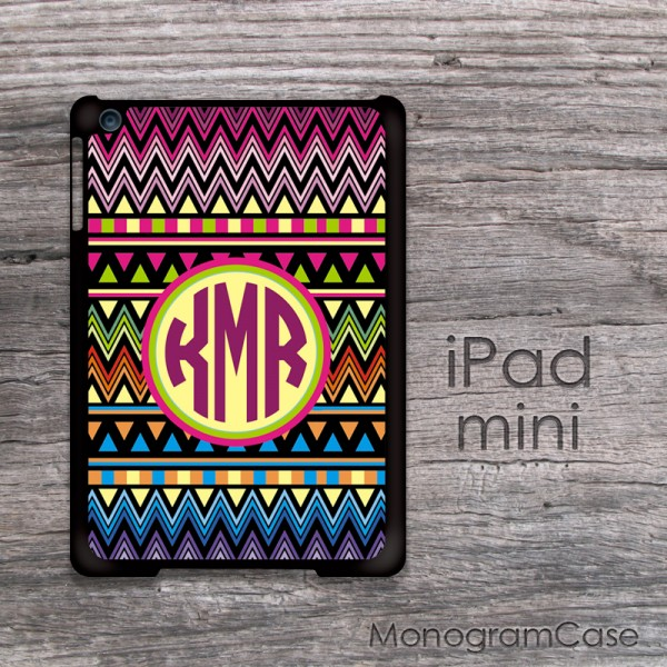 Tribal old aztec print monogrammed iPad mini case
