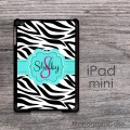 Zebra print design on a iPad mini name or monogrammed