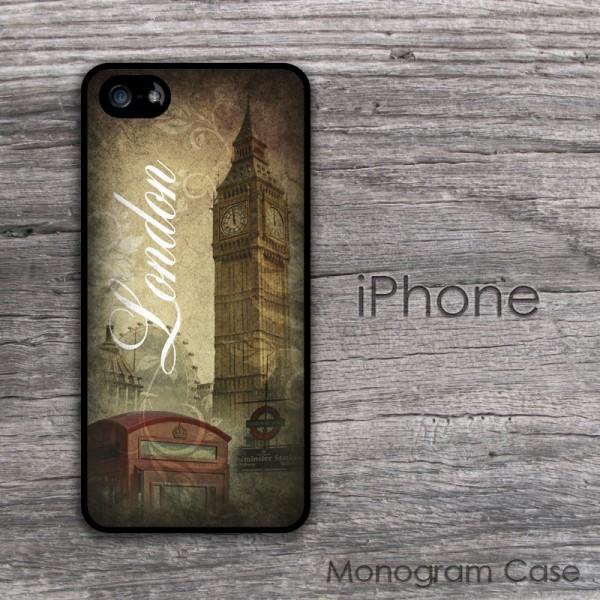 Big ben tower print retro London inspiration phone cover