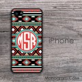 Аztec tribal Boho pattern monogrammed iPhone case
