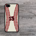 Baseball design print customized iPhone cover