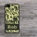 Personalized camo iPhone hard case