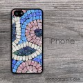 Mosaic pattern design print cell phone cover case