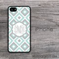 Diamonds ikat design light colors monogram case cover
