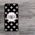 Fleure de lis pattern baby pink label iPhone