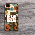 Flowers art elegant design customized iPhone case