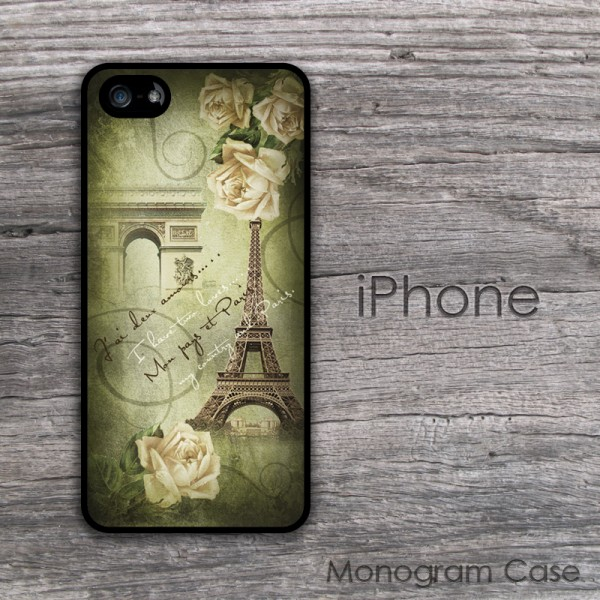 French lettering Paris print customized iPhone