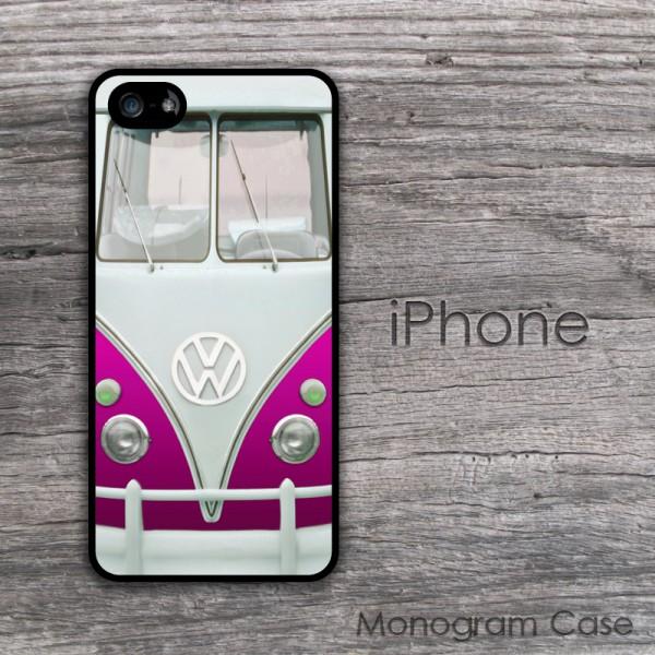 Hippie VW van magenta design case cover for iPhone