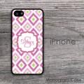 Ikat pink diamonds customized iPhone cover