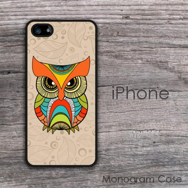 Boho owl multicolored  case design for iPhone
