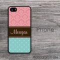 Customized polka dots and damask iPhone case