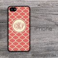 Salmon and cream  pattern customized iPhone 5S cover