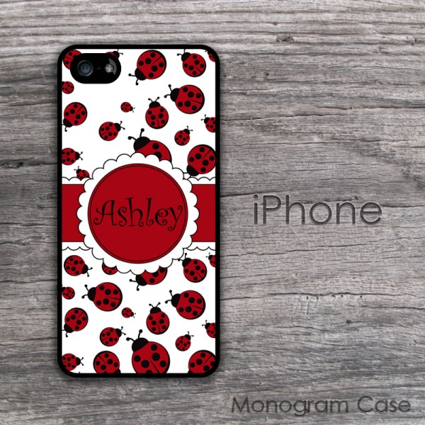 Sweet ladybugs red pattern custom iPhone cover