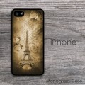 Vintage roses Eiffel tower print custom iPhone 5S case