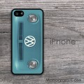 VW teal van vintage hippie car iPhone case