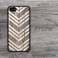Wood rustic look white arrows iPhone case