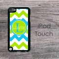 Carolina blue apple green chevron design iPod