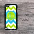 Carolina blue apple green chevron design iPod